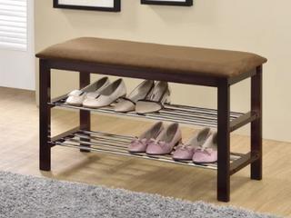 18 5 Inch Marbel Walnut Upholstered Shoe