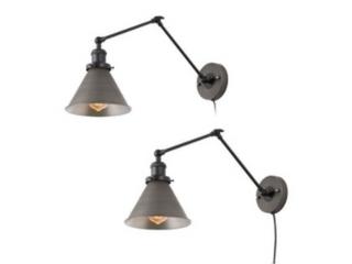 Modern Farmhouse Wall lamp Swing Arm Wall Sconce Set of 2   l19 7  xW7 53  xH9 1  Retail 153 99