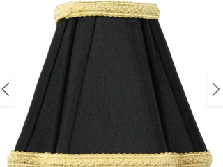 2x5x5 Black with Gold liner Chandelier Cover