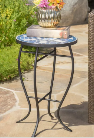 Han Outdoor Round Tile Side Table