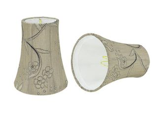 Aspen Creative Bell Chandelier Clip On lamp Shade  2 Pack  Antique Ivory   2 1 2  x 4  x 5