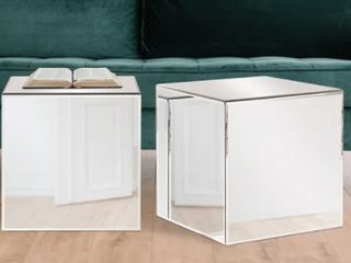 Silver Orchid Barrett Cube Table