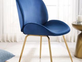 Art leon Beetle Design Velvet Dining Chair