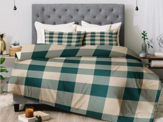 Zoe Wodarz Cozy Woods Plaid Comforter Set