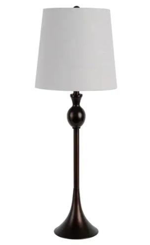 Wynn Brushed Bass Buffet lamp Bronze