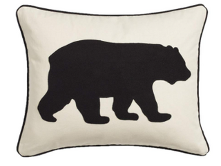 Bear Throw Pillow Black  16 X 20    Eddie Bauer