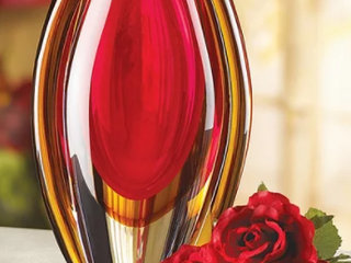 Copper Grove Senj Fireblazed Glass Vase