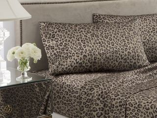 Seduction Satin Full leopard Sheet Set