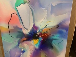 Flower On Wrapped Canvas 30  x 40