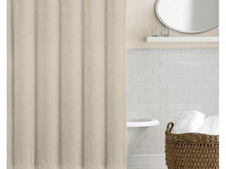 Echelon Home Washed Belgian linen Shower Curtain