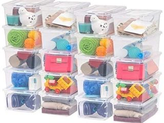 IRIS USA CNl 5 Storage Box  5 Quart  Clear  20 Pack