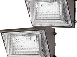 lightdot 2 Pack 120W lED Wall Pack lights with Photocell  13200 lM  700W HPS HID Equivalent  Daylight 5000K  IP65  Bright Outdoor Commercial and Flood Security lighting
