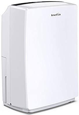 Inofia 30 Pint Dehumidifier for 1500 SQ FT Home Basements  Bedroom  Bathroom  Garage  laundry Room  Grow Room  Office  Compact Electric Dehumidifiers for Quiet   Efficient Intelligent Humidity Control on Small Medium Rooms