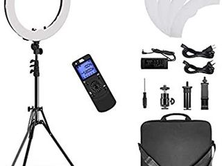 19inch Selfie Ring light with Wireless Remote Control  Dimmale Color Temperature for Camera and Smartphone  Perfect for YouTube  Make up  Portrait  Online Teaching  Photography