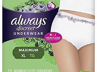 Always Discreet  Incontinence Underwear for Women  Maximum Classic Cut  XXl 22 Count