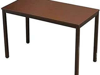 Computer Desks  Study  Stable Office Desk  Easy Assembly  Home Office  with Adjustable leveling Feet 120x60x75cm  Color   Black Walnut
