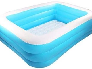Family Inflatable Swimming Pool Rectangular Paddling Pools for Kids  Inflatable Pool for Gardens  Blow Up Pool  Wear Resistant Thick Swimming Pool   box rough