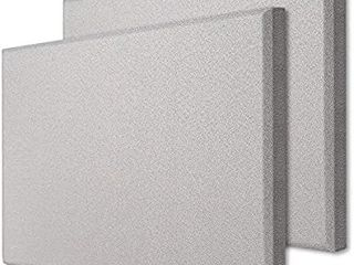 TroyStudio Acoustic Panel   Sound Absorber   Fiber Glass   Multiple Colors   Sizes   600 X 600 X 28 mm  Pack of 2   Gray