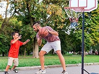 Sibosen Portable Height Adjustable Basketball Hoop System Stand w Wheels