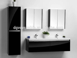 Bathroom Mirror Cabinet Mirrors on Outside and Inside Double Door