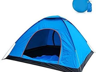 2 Person Camping Tent with Carry Bag  Jhua lightweight Waterproof Dome Automatic Pop Up Outdoor Sports Tent Sunscreen for Beach  Traveling  Hiking  Camping  Hunting a Blue
