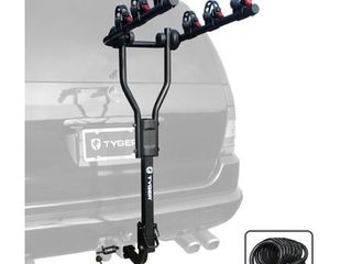 Tyger Auto TG RK3B101S 3 Bike Hitch Mount Bicycle Carrier Rack Free Hitch lock   Cable lock Fits both 1 25  and 2  Hitch Receiver