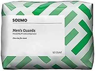 Solimo Menas Guards Maximum Absorbency One Size Fits Most 52 Ct