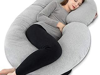 Pregnancy Pillow  Maternity Body Pillow for Pregnant Women C Shaped Pillow with Jersey Body Pillow Cover