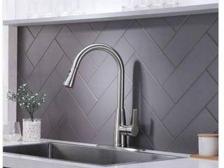 Single Handle Stainless Steel Black Prep Sprayer Pull Down Sprayer Kitchen Faucet