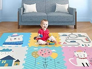 Play Mat  Foldable Baby Crawling Mat Non Toxic Kids Puzzle Exercise Playmat large Waterproof Foam Floor Play Mat