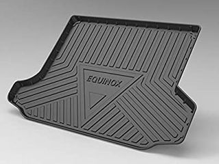 Back Seat Cover Boot liner Tray for   Equinox 2017 2019 Rubber Boot liner Protector Mat Non Slip  Waterproof  Dirt Resistant Boot liner Tray Mat Protector Car Rear Trunk Mat folded in transit