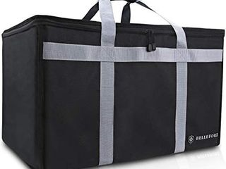 BEllEFORD Insulated Food Delivery Bag XXl   23x14x15  Waterproof Grocery Storage  Warm   Cool    Buffet Server  Warming Tray  lunch Container Store   Pizza Box  Chafing Dish   Casserole Carrying Case
