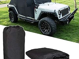 Cab Cover Car Cover with Storage Bag for Jeep Wrangler JK JKU Jl JlU 2007 2020 4 Door   300D Oxford Sun Wind Shade Trail Cover Door   Hard top Off