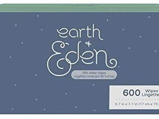 Earth   Eden Ultra Premium 99  Water Wipes  600 Count
