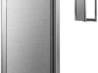 Hihone Outdoor Kitchen Doors Stainless Steel  Heavy Duty Access Door for Outdoor Kitchen  BBQ Island  Flush Mount Stainless Steel Door 17 x 24