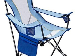 WEJOY Portable Folding Mesh Back Beach Sling Chair with Cup Holder  Pocket  Detachable Pillow  31 A 22 31 A 17 36 8 inches  7 5 lbs  lightblue  One Size  WF1907 lIGHTBlUE USVC   bag is dirty from transit