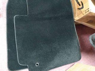 Black front floor mats