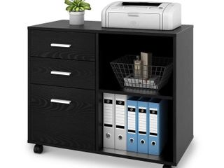 Devaise 3 Drawer lateral File Cabinet with Shelf