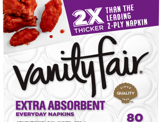 Vanity Fair Extra Absorbent Everyday Casual Napkins   80ct Case of 12 Total 960