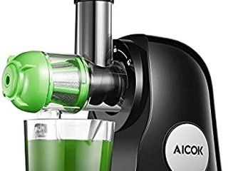 Juicer Machines  Aicok Slow Masticating Juicer Extractor Easy to Clean