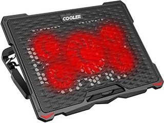 AICHESON laptop Cooling Pad for 17 3  Notebook  Red 5 Fans