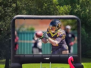 VIVOHOME 14 Feet Indoor and Outdoor Inflatable Blow up Mega Movie Projector Screen