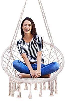VIVOHOME Hanging Hammock Chair  330 lbs Capacity for Indoor Outdoor  Patio