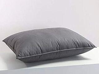 Premium Siberian Goose Down Pillows for Sleeping Queen Size Bed Pillow Standard Grey