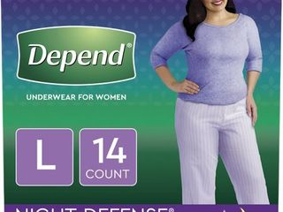 Depend Night Defense Incontinence Underwear for Women   large   14ct