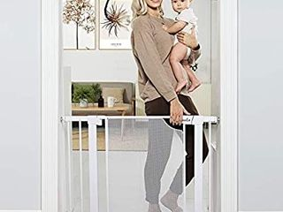 Auto Close Safety Baby Gate Durable Child Gate for Stairs Doorways  Metal Mesh Easy Walk Thru Dog Gate for House