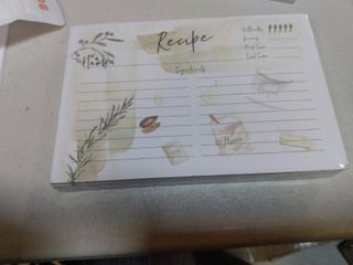 Recipe Cards Set for Recipe Box   127 cards  Recipe Cards 4x6 Double Sided   Perfect Kitchen Cooking Gift Idea
