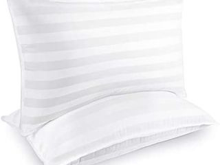 COZSINOOR Hotel Collection Pillows for Sleeping  2 Pack  luxury Down Alternative Pillow 100  Breathable Cotton Cover Skin Friendly  Standard Size