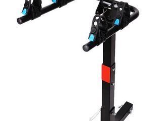 leader Accessories 2 Bike Bicycle Hitch Mount Carrier Rack Heavy Duty for Cars  Trucks  SUV s Hatchbacks Fit for 2  Hitch Receiver