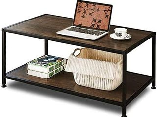 GreenForest Coffee Table Industrial Metal Frame